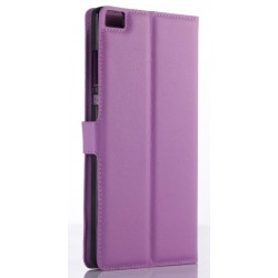Protection Etui Portefeuille Cuir Violet Huawei P8 Max