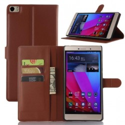 Protection Etui Portefeuille Cuir Marron Huawei P8 Max