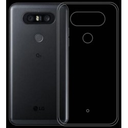 LG Q8 Transparent Silicone Case