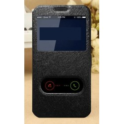 Black S-view Flip Case For LG Q8