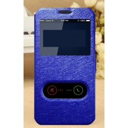 Blue S-view Flip Case For LG Q8