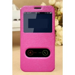 Etui Protection S-View Cover Rose Pour LG Q8
