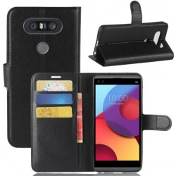 LG Q8 Black Wallet Case