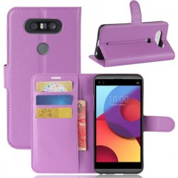 LG Q8 Purple Wallet Case