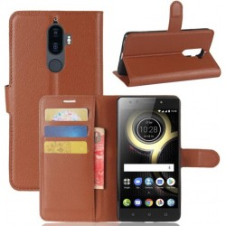 Lenovo K8 Note Brown Wallet Case