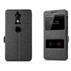 Black S-view Flip Case For Nokia 7