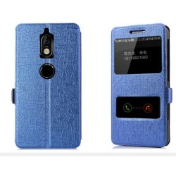 Blue S-view Flip Case For Nokia 7