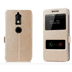 Gold S-view Flip Case For Nokia 7