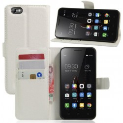 Lenovo Vibe C White Wallet Case