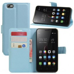 Lenovo Vibe C Blue Wallet Case