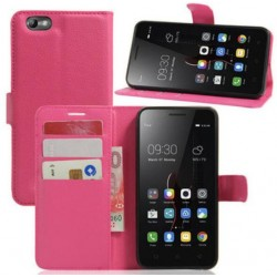 Protection Etui Portefeuille Cuir Rose Lenovo Vibe C