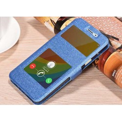 Blue S-view Flip Case For Oppo A59