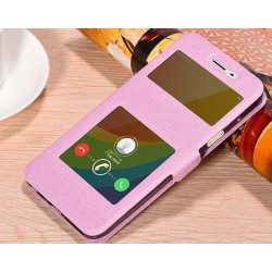 Pink S-view Flip Case For Oppo A59
