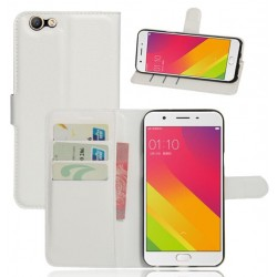 Oppo A59 White Wallet Case