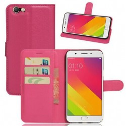 Oppo A59 Pink Wallet Case
