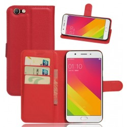 Oppo A59 Red Wallet Case