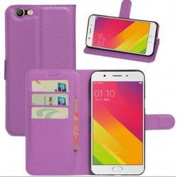 Oppo A59 Purple Wallet Case
