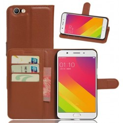 Oppo A59 Brown Wallet Case