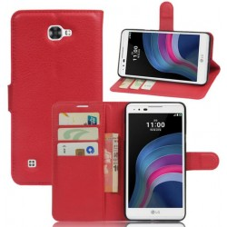 LG X5 Red Wallet Case