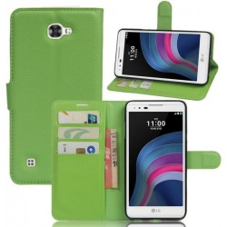 LG X5 Green Wallet Case