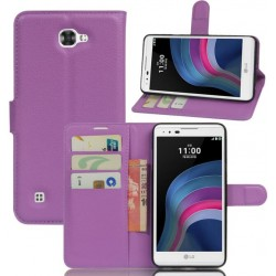 LG X5 Purple Wallet Case