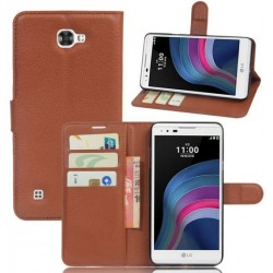 LG X5 Brown Wallet Case