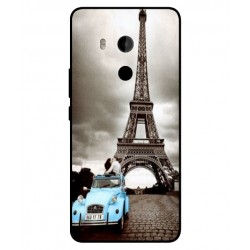 HTC U11 Plus Vintage Eiffel Tower Case
