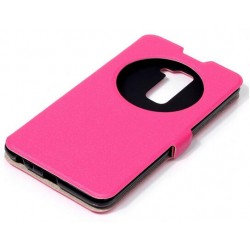 Pink S-view Flip Case For LG Stylo 2