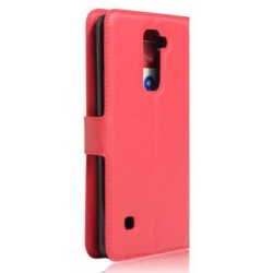 Protection Etui Portefeuille Cuir Rouge LG Stylo 2