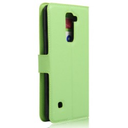 Protection Etui Portefeuille Cuir Vert LG Stylo 2