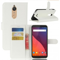 Protection Etui Portefeuille Cuir Blanc Wiko View