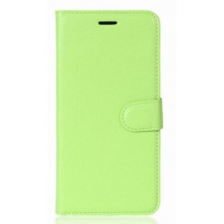 Protection Etui Portefeuille Cuir Vert Wiko View