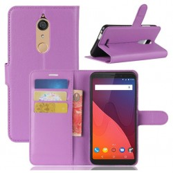 Protection Etui Portefeuille Cuir Violet Wiko View