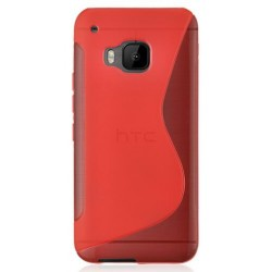 Red Silicone Protective Case HTC One S9