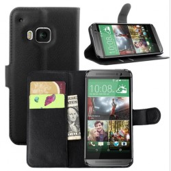 HTC One S9 Black Wallet Case