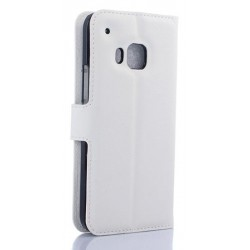 HTC One S9 White Wallet Case
