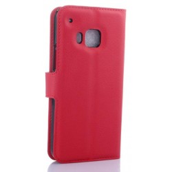HTC One S9 Red Wallet Case