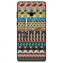 Gionee M7 Power Mexican Embroidery With Clock Cover