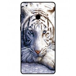 Coque Protection Tigre Blanc Pour Gionee M7 Power