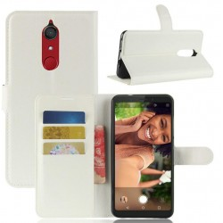 Protection Etui Portefeuille Cuir Blanc Wiko View XL
