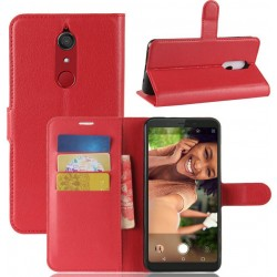 Protection Etui Portefeuille Cuir Rouge Wiko View XL