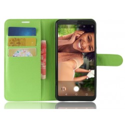 Protection Etui Portefeuille Cuir Vert Wiko View XL