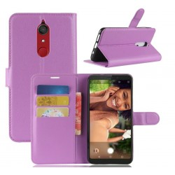 Protection Etui Portefeuille Cuir Violet Wiko View XL