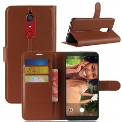 Protection Etui Portefeuille Cuir Marron Wiko View XL