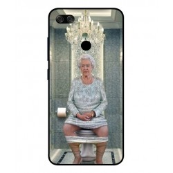 Asus Zenfone Max Plus M1 Her Majesty Queen Elizabeth On The Toilet Cover