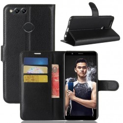 Huawei Honor 7X Black Wallet Case