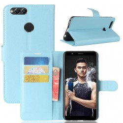 Protection Etui Portefeuille Cuir Bleu Huawei Honor 7X