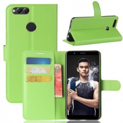 Protection Etui Portefeuille Cuir Vert Huawei Honor 7X