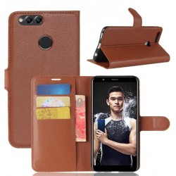 Protection Etui Portefeuille Cuir Marron Huawei Honor 7X