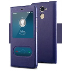 Blue S-view Flip Case For Huawei Honor 7X